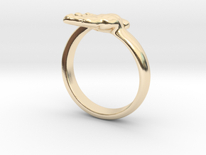 Newborn Baby hand ring in 14K Yellow Gold