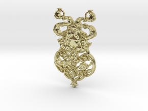 Ornamental Pendant in 18K Gold Plated