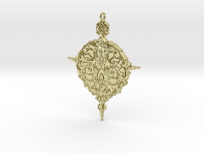 Baroque Ornament Amulet in 18K Gold Plated