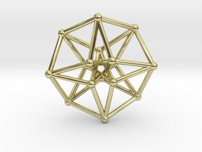 Toroidal Hypercube 35mm 1.5mm Time Traveller in 18K Gold Plated