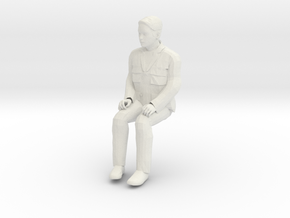 Regular Joe Sitting 1/29 scale in White Strong & Flexible