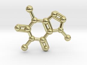 Caffeine Molecule Necklace / Keychain in 18K Gold Plated