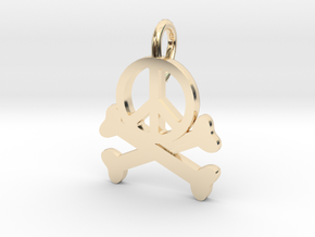 Homicidal Pacifist - Small in 14k Gold Plated Brass