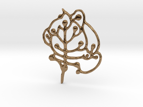 Neolithic 'Tree Of Life' Pendant in Natural Brass