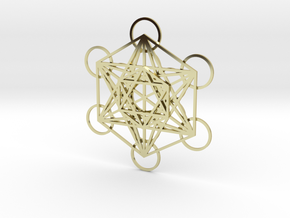 Metatrons Cube in 3 Layers in 18K Gold Plated