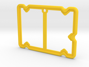 Badge Holder (Film Wizardry) in Yellow Processed Versatile Plastic