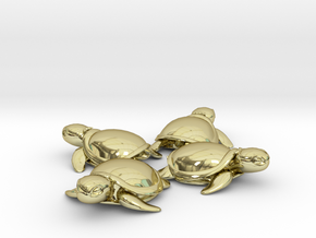 TMNT Little Turtles (4 pieces bundle) in 18K Gold Plated