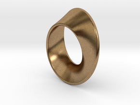 Moebius Band 1 cm in Natural Brass