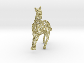 2014 Year of the Horse- Polished Gold in 18K Gold Plated
