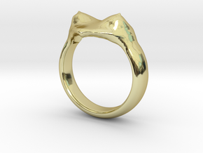 """heart ring """"Polena"""" in 18K Gold Plated"""