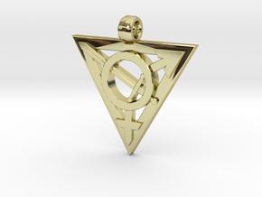 Transgender Warrior Pendant (large) in 18K Gold Plated