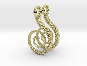 Spiral Earrings Textured in 18K Gold Plated