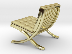 "Mies-Van-Barcelona-Chair - 1/2"" Model in 18K Gold Plated"