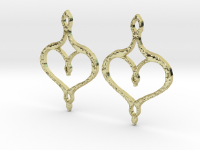 :Perfect Valentine: Earrings in 18K Gold Plated