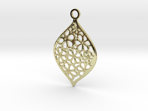 Floral Pendant / Earring in 18K Gold Plated
