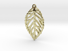 Leaf Pendant / Earring in 18K Gold Plated