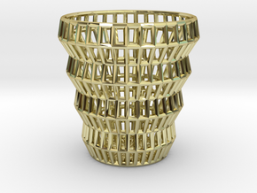 Wireframe Espresso Cup (Shell) in 18K Gold Plated