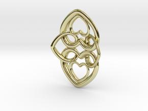 Heart Motif Earring in 18K Gold Plated