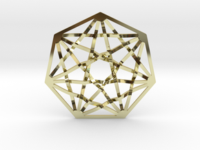 7D Hypercube Pendant in 18K Gold Plated
