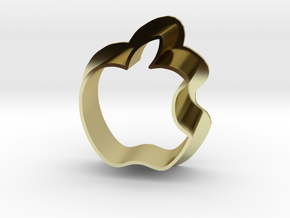 Apple Logo with bite in 18K Gold Plated
