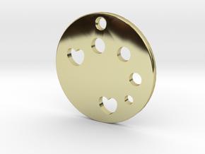 Love Disk v1 in 18K Gold Plated