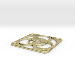 PC Fan grill - BioHazard - (50mm) in 18K Gold Plated
