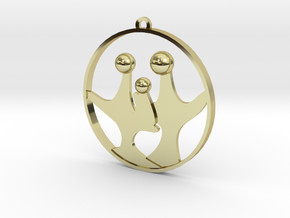 Family O Three in 18K Gold Plated
