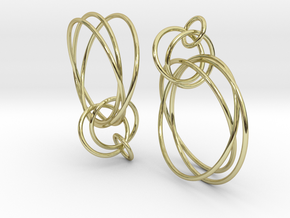 Earrings Loops Smaller - 2 Pcs in 18K Gold Plated