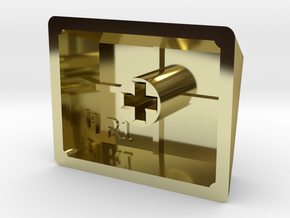 Blank Keycap (R1, 1.25x) in 18K Gold Plated
