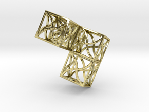 Twirl cubed puzzle part #2 in 18K Gold Plated