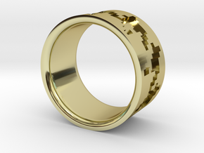 Pied de poule ring in 18K Gold Plated