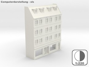 Stadthaus Halbrelief 1 - 1:220 (Z scale) in White Strong & Flexible