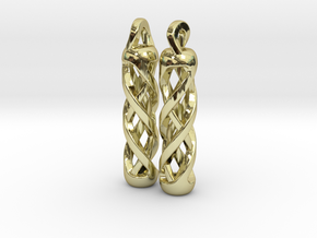 Tritium Earrings 1 (All Materials) in 18K Gold Plated