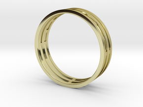 Nice modern ring : symmetrie at work in 18K Gold Plated