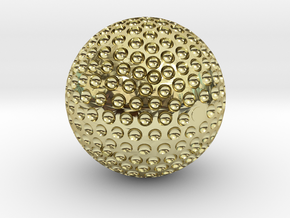GOLDEN GOLF BALL TROPHY in 18K Gold Plated