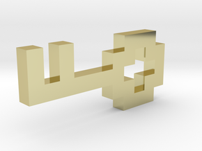 Pixel Key in 18K Gold Plated