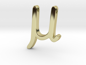 Mu in 18K Gold Plated