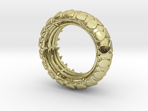 LEAFY Ring  in 18k Gold Plated Brass: Medium
