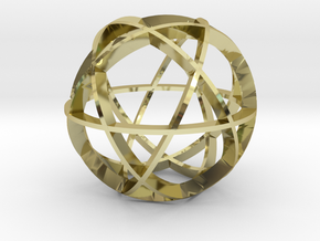 Icosidodecahedron (narrow) in 18K Gold Plated