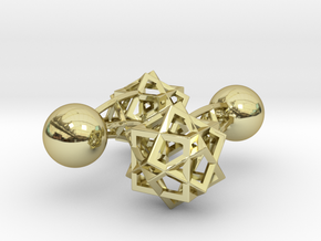 Tricube Cufflinks in 18K Gold Plated