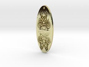 WhiteHawk Tribal Pendant 4 in 18K Gold Plated