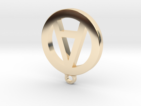 "Necklace Charm - Letter ""A"" in 14k Gold Plated Brass"