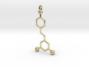 Red Wine Molecule in 18K Gold Plated