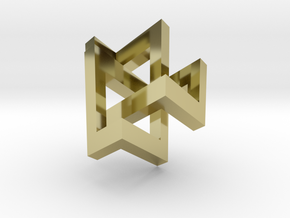 Trefoil Knot as Bishop Tour in 18K Gold Plated