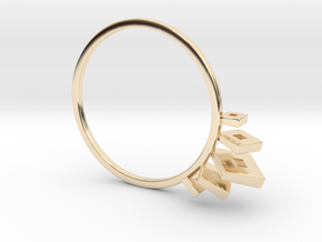 V² in 14k Gold Plated Brass: 7.25 / 54.625