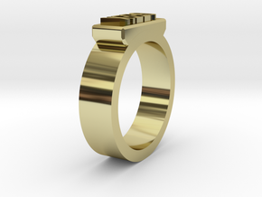 Geek Ring Size 11 in 18K Gold Plated