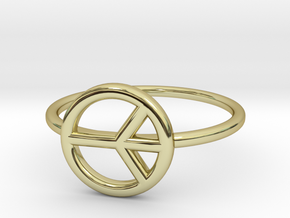 Peace Midi Ring, knuckle ring, by titbit in 18K Gold Plated