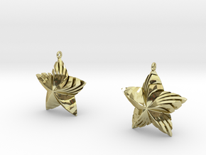 Tortuous Stars Earrings in 18K Gold Plated