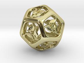 Tengwar Elvish D12 in 18K Gold Plated