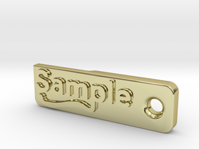 Material Sample - Sample Stand (ALL MATERIALS) in 18K Gold Plated